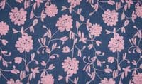 Chambrai CLOONEY Embroidered Cotton Denim Fabric Material - Old Rose